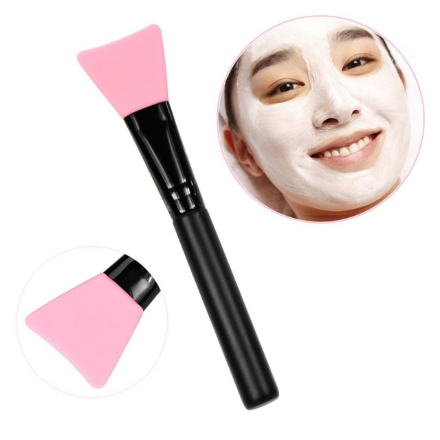Women Fashion 1pc Silicone Facial Face Mask Brush Mask Mud Mixing Brush Tool 5 Color Soft Women Skin Face Care tool 2
