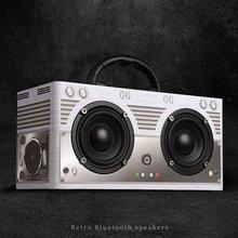 Беспроводной Bluetooth динамик Портативный hifi шок бас динамик аудио деревянный Soundbar, сабвуфер caixa de som