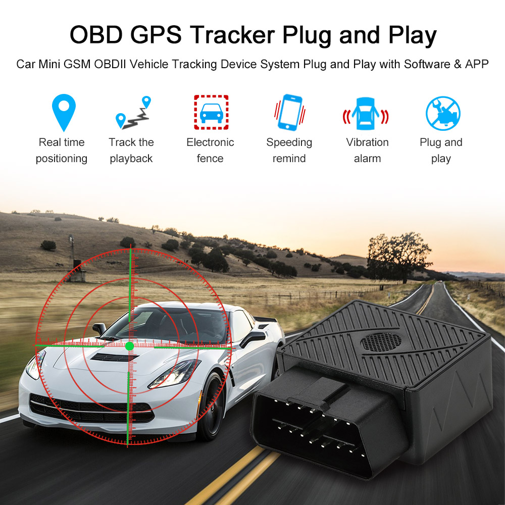 GPS Tracker Tracking System Device OBD II Hidden Tracker for Car Vehicle Van 2