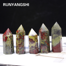 Mineral-Crafts Healing-Stone Home-Decoration Handmade Dragon-Blood-Stonecrystal-Point-Wand
