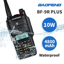 High Power 10W Baofeng UV-9R Plus Walkie Talkie Uv 9R Waterdichte Draagbare Jacht Ham Radio UV9R 20Km Dual band Hf Transceiver(China)