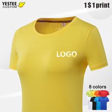 Camisetas personalizadas para mujer, ropa con tu propio logotipo/pareja de imágenes, Top de manga corta de algodón Harajuku, informal para mujer