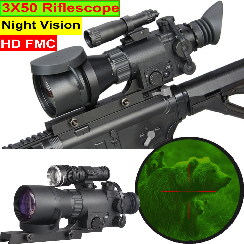 MK 39 4X Night Vision Riflescope NV Monocular FMC Full HD Lens Camera Recorder Range Thermal Imager Hunting Trail Sight Scope