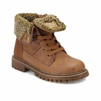 Boys Boots Shoes Spring Autumn Brown PU Children's Leather Fashion Kids Warm Winter Rubber Waterproof Snow Rain Baby 82.510624.F
