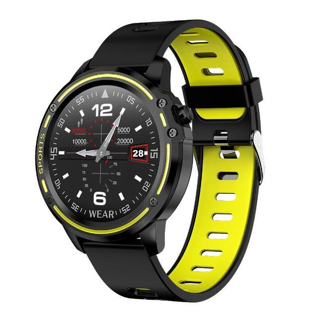 Reloj inteligente L8 IP68 para Hombre, deportivo, resistente al agua, con control del ritmo cardíaco y de la presión sanguínea