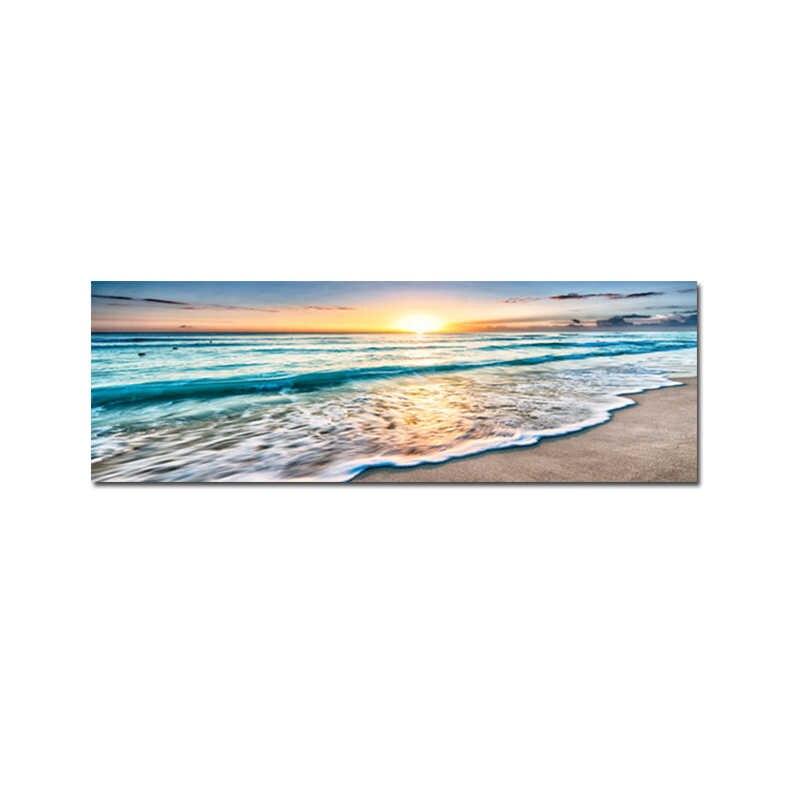 SC024 Bleu Rose Mer Coucher de soleil nature paysage Toile Wall Art Photos Grand Imprime