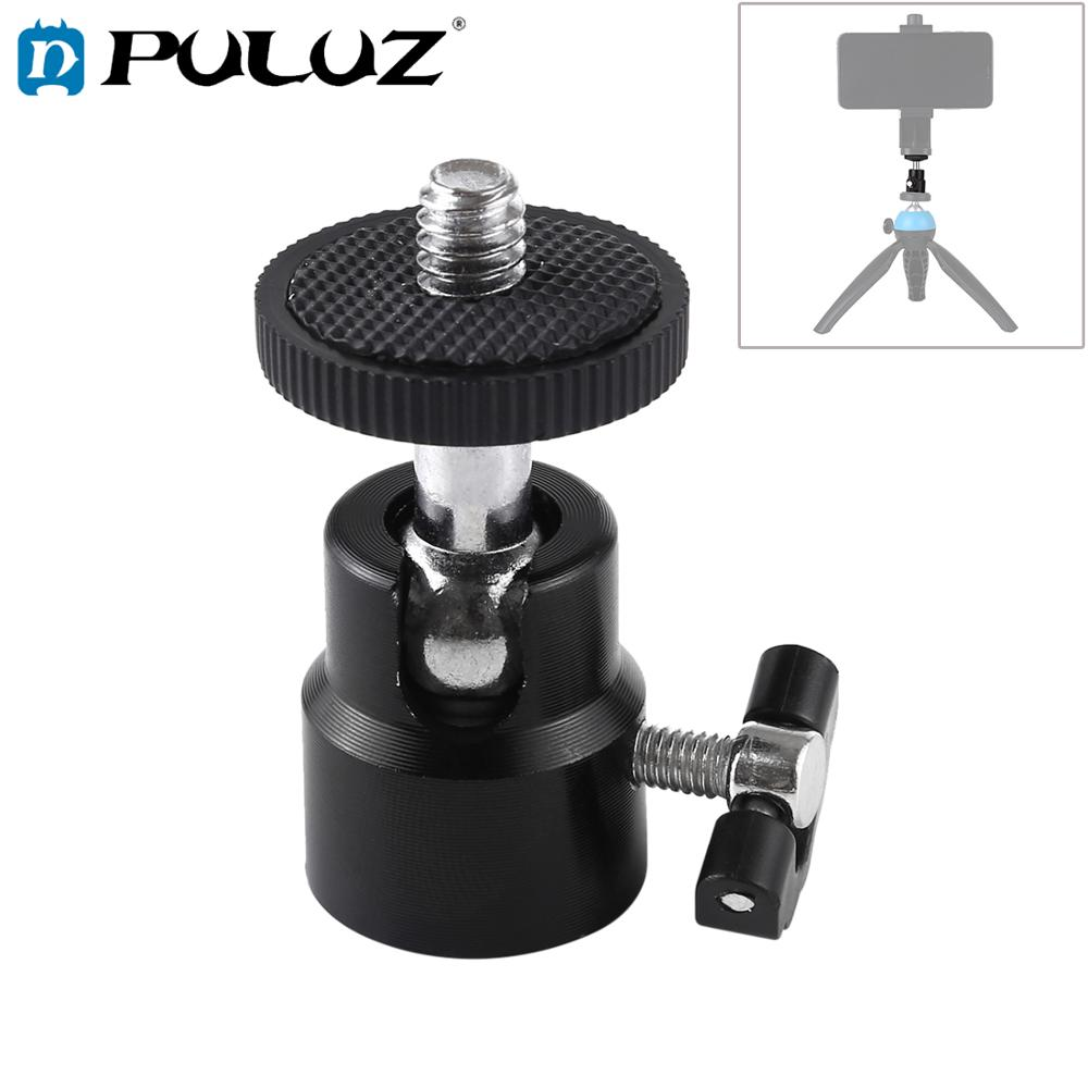 PULUZ <font><b>1/4</b></font> inch Screw <font><b>Metal</b></font> Tripod Ball Head <font><b>Adapter</b></font> with Lock image