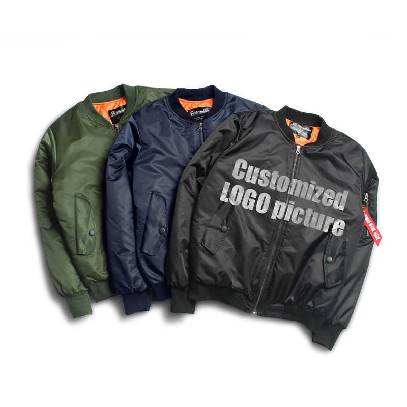 Moda sublimación al aire libre nylon Sukajan caqui al por mayor hombre chaqueta de Bombardero