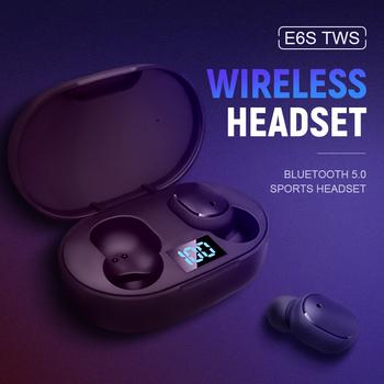 E6S TWS bezprzewodowa słuchawka Bluetooth 5 0 słuchawki sportowe słuchawki douszne z mikrofonem do smartfona Xiaomi Samsung Huawei LG tanie i dobre opinie KUGE Ucho Inne CN (pochodzenie) Bezprzewodowy + Przewodowe Do Internetu Bar Monitor Słuchawkowe Do Gier Wideo Wspólna Słuchawkowe