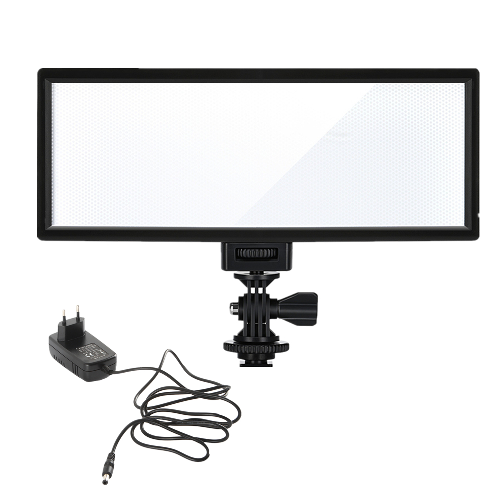 Viltrox L132T Camera LED video light LCD Display Bi-Color & Dimmable Slim DSLR + AC power Adapter for Canon Nikon DV Camcorder image