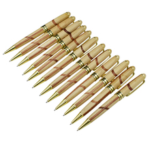 (12 Pieces/Lot) Retro Environmental Wood Ball Pens Wholesale Stationery Office and Study Wood Pen Office School Supplies