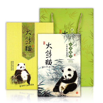 Animal 2019 New Panda Book Bamboo Book Notebook History Book Silk Cartoon Cute Agenda Planner 365 Planner Calendar Yellow
