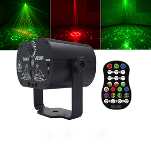 2018 new wireless remote disco laser light aluminum rg porjector LED pattern effect car new year party laser(China)