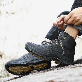 Large Size Outdoor Durable Hiking Shoes Waterproof Anti-Skid Climbing Shoes Tactical Hunting Boots Trekking Sports Sneakers Men 5