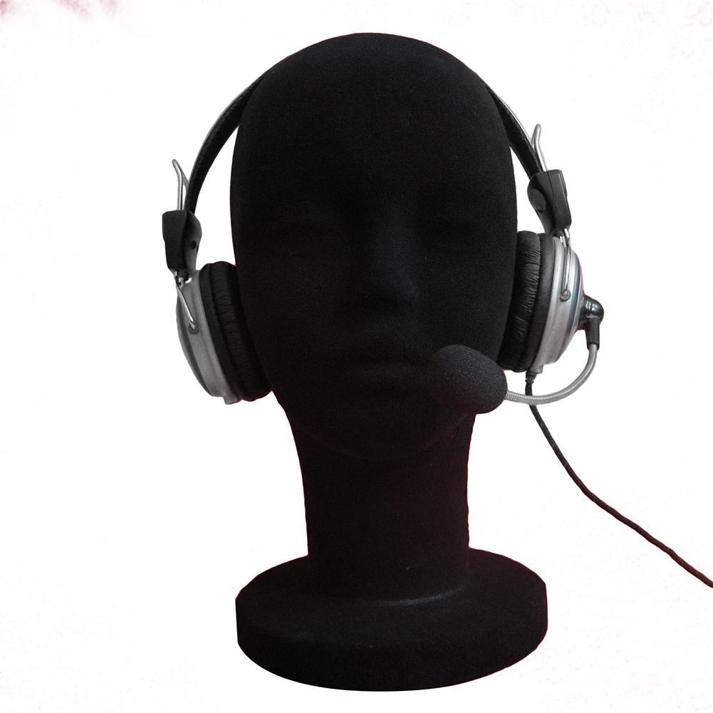 Foam Female Mannequin Head Manikin Headset Hat Glasses Model Wig Hair Display Stand Training Heat Wig Display Stand Rack