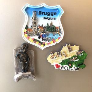 3D Resin Fridge Magnets Brugge Belgium Tourist Souvenir Hungary Kapok Budapest Chili Magnetic Refrigerator Decoration Gift Ideas(China)