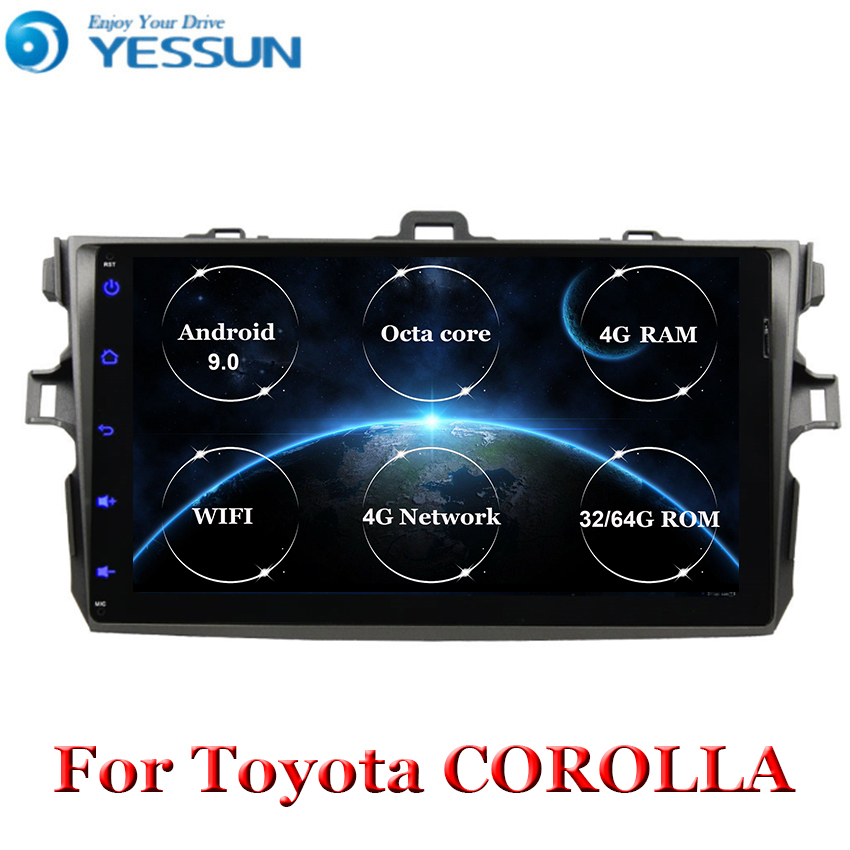 Car Radio 8 core Android 9 Multimedia Player For <font><b>Toyota</b></font> <font><b>Corolla</b></font> <font><b>E140/150</b></font> 2006 2007-2009 2010 2011 2012 2013 WIFI GPS Navigation image