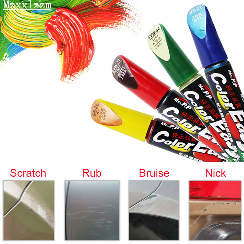 Universal Car Paint To Repair Scratches Brush Repair Paint Pencil Waterproof Fill Paint Pen Car Care Tool Black White Red Silver