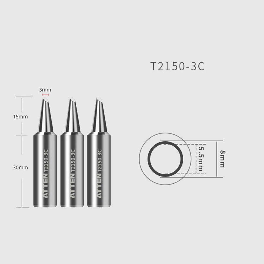 Original ATTEN Soldering Iron Tip Replacement Bit Head K B I 3C 5C 7C 3.2D 4.6D 6.5D Lead Free for ST-2150 ST-2150D 3
