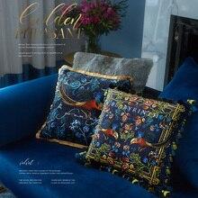 Роскошный, классический дизайн, Бархатный Чехол на подушку с принтом, наволочка домашняя декоративная диван, кресло-подушка