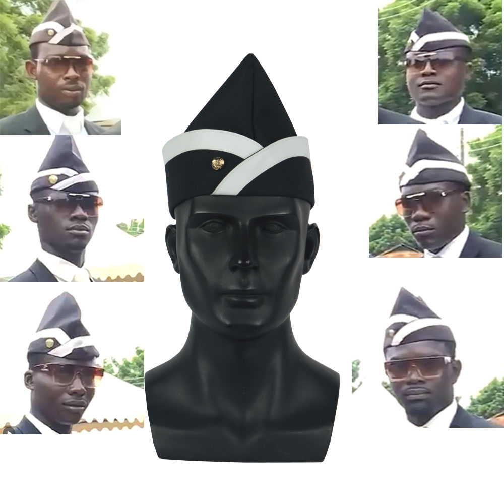 Cosplay Ghana portadores ataúd danza negro Tapa Funeral equipo de baile de sombrero divertido vestido de traje|Boinas para hombre|   - AliExpress