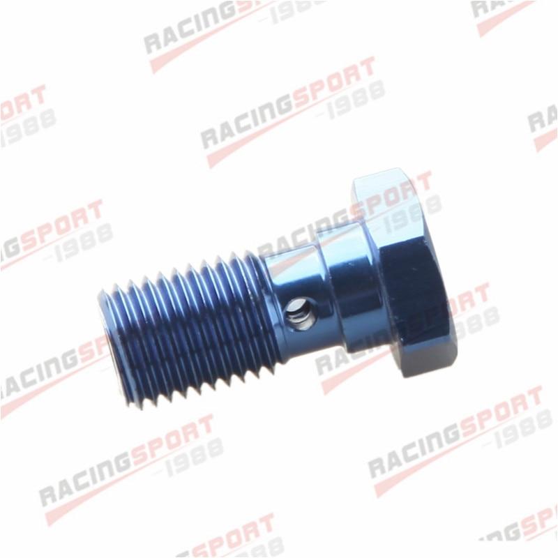 Parafuso Banjo UNF 7/16-liga de Alumínio Banjo Bolts Brake Adaptor 20UNF azul/preto-1