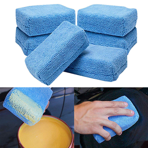 1/3Pcs Microfiber Car Washing Sponge Automobile Cleaning Cloths Car Wax Polishing Pad 12cm*8cm*4cm