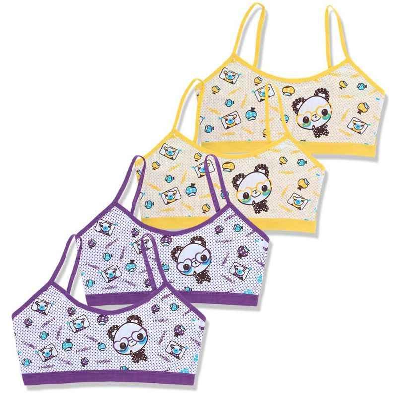 Teenage Girls Training Bra Kids Underwear Cotton Cartoon Panda Small Young School Children Vest Bras Child Underclothes