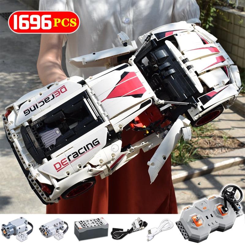veiculo de controle remoto montado moc modelo blocos de construcao tecnica rc nao rc carro de