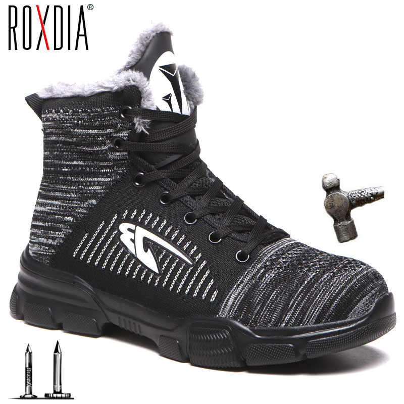 Drop Shipping Steel Toe Sneaker Work Safety Shoes For Men Women Warm Lightweight Mesh Construction Shoes Plus Size 37-48 RXM181