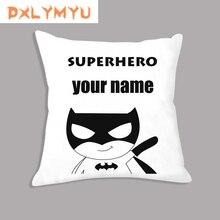 Cushion-Cover Custom Superhero Kids Sofa Name-Combination Soft Car Cartoon for Simple