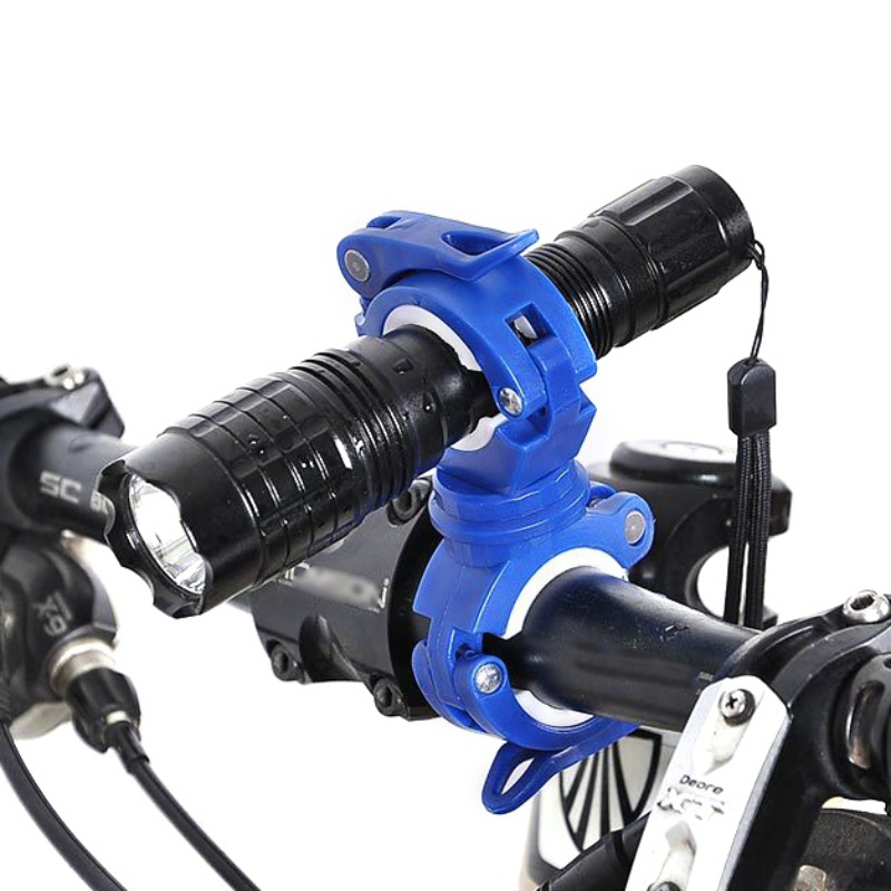 Bicycle 360 Degree Rotating Light Holder LED Front Flashlight Lamp Clip Stand Mountain Road Bike Handlebar Torch   Bracket