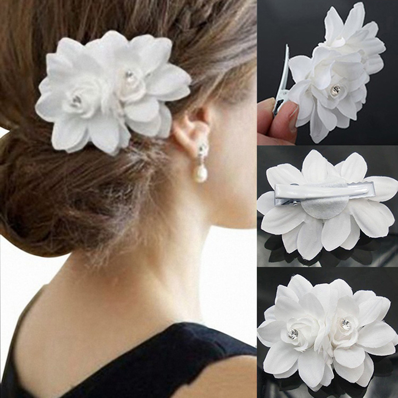 Wedding Decoration Hairstyle Hair Pin Rhinestone Flower Hair Accessories Lady Bride Flower Orchid Hair Clip Hair Accessories