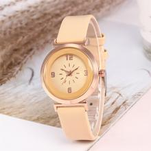 Fashion Women Watch Prismatic Glass Round Dial Arabic Numbers Faux Leather Band Casual Ladies Quartz Wrist Watches reloj mujer dial loving heart ladies faux leather strap band flowers print analog watch brand fashion casual quartz wrist watch for women