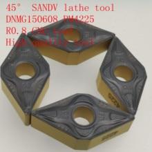 45°SANDV high quality lathe tool DNMG150608 PM4225 carbide tool, external turning R0.8 CNC semi-finishing