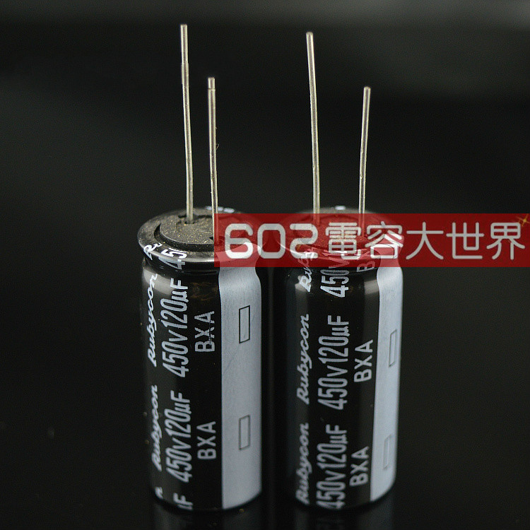 10PCS New Japan Rubycon BXA 450V120UF 18x40MM 120uF/450V Electrolytic Capacitor High-Frequency Low-10,000 Hours 120UF 450V image