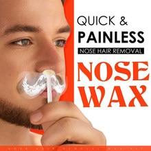 Kit de cera portátil remoção do cabelo do nariz cera kit nariz remoção do cabelo ferramenta cosméticos nariz aparador de cabelo presente para o pai