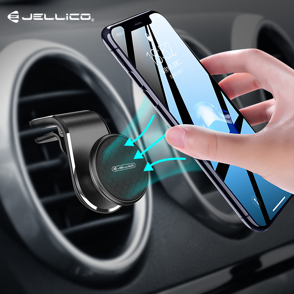 Jellico Universal Magnetic Car Phone Holder Stand In Car For IPhone Samsung Magnet Air Vent Mount Cell Mobile Phone Support GPS