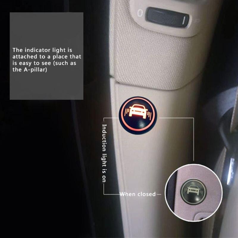 Sistema Universal de monitoreo de puntos ciegos para coche BSM microondas 2 sensor de radar 2 indicador LED 1 Detección de alarma cambio de carril Assit - 6