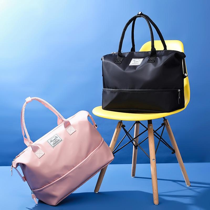 Водонепроницаемая дорожная сумка, ручная, большой объем, короткий багаж для путешествий спортивная сумка для спортзала, ткань Оксфорд