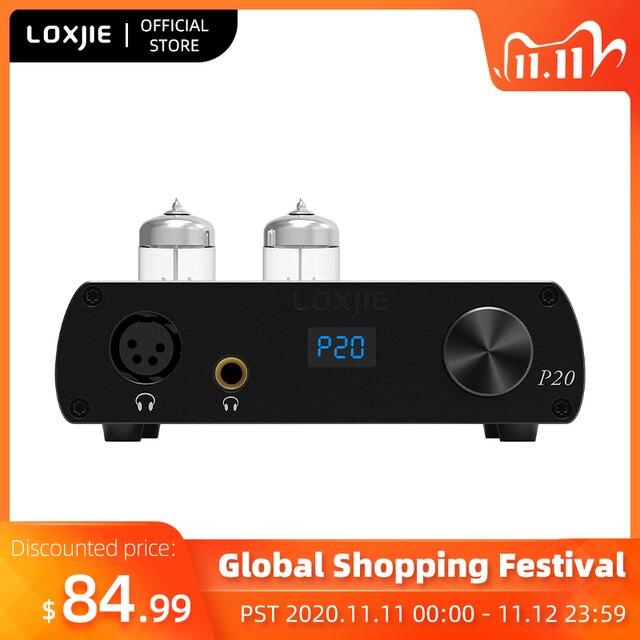 LOXJIE P20 Full Balance Tube Headphone Power Amplifier Use the Military Grade 6N3 Tube Powerful Hi End volume control NJW1195