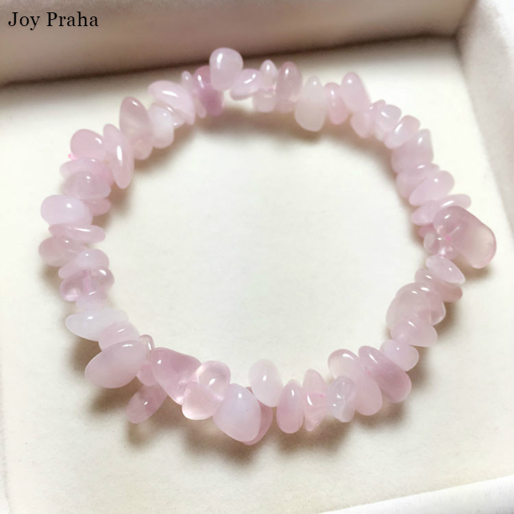 Natural Pink Crystal Women Bracelet / Gravel Jewelry Bracelet / Wholesale Dropshipping
