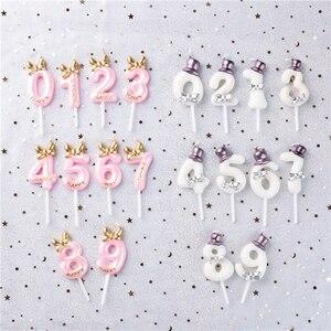 Image 2 - Décoration de gâteau danniversaire avec numéros de gâteau pour anniversaire, décoration de fête pour anniversaire 0 1 2 3 4 5 6 7 8 9 numéros de gâteau pour anniversaire