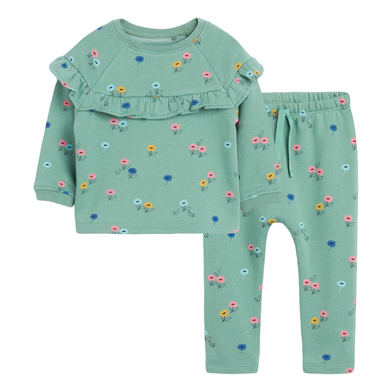 Little maven Girls Clothing Sets Flower Two-piece Toddler Girl Suits Children's Fall Boutique Outfits Kits For Children Sets 1