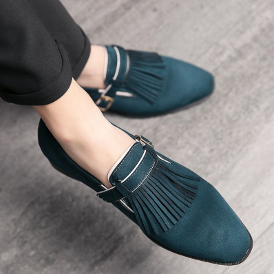 Men Leather Fashion Shoes Low Heel Fringe Shoes Dress Shoes Brogue Shoes Spring Ankle Boots Vintage Classic Male Casual LP144
