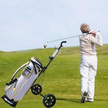 Swivel Trolley Golf-Bag Golf-Cart/cup-Holder Foldable 2-Wheel Light-Tool Push-Pull Steel