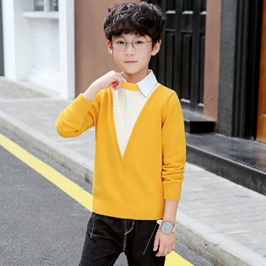 Image 5 - Boys Sweaters Autumn Winter Pullovers Sweater Kids Clothes Children Clothing Warm Outwear Boys Sweaters Teen Casual Costume