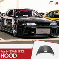 For Nissan R32 Skyline GTR OE Style Carbon Fiber Glossy Finished Front Hood Car accessories Exterior kit