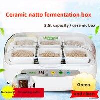 Natto máquina de micro-computador de controle automático de cerâmica caixa de fermentação natto saudável de alta qualidade de grande capacidade máquina de natto