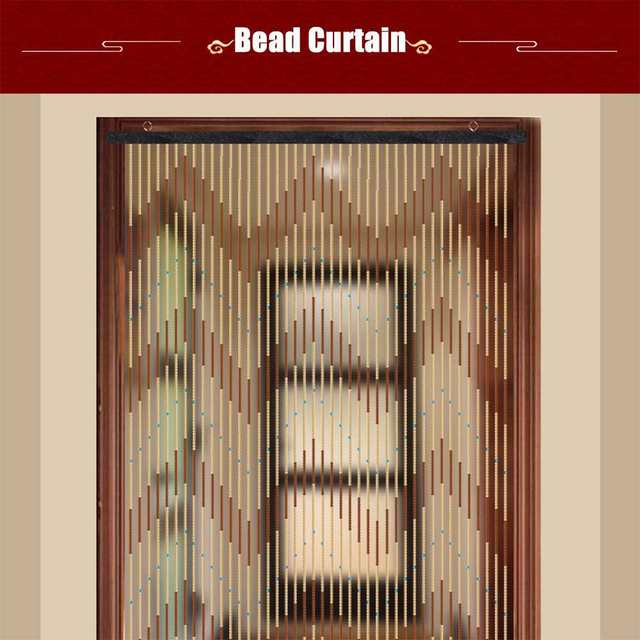 90x220cm High Quality Wooden Door Curtain Blinds Handmade Fly Screen Wooden Beads Room Divider 31 Line Non-toxic No Smell 2